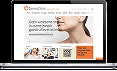 Verbeterde website DermaClinic
